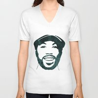 randy c V-neck T-shirts featuring C' by bpmm