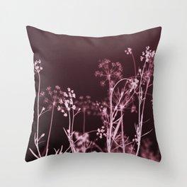 Elegant Burgundy Botanical Floral Throw Pillow