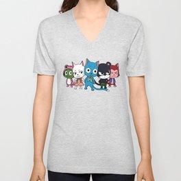 Fairy Tail Cats Unisex V-Neck