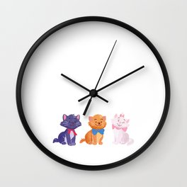 Once upon a time Aristocats Wall Clock
