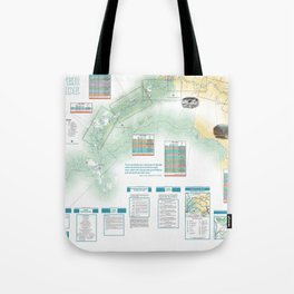 BLM - Detailed Rogue River Overview Map (2018) Tote Bag