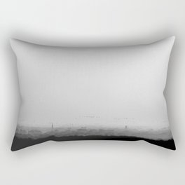The Old City - Black and White Rectangular Pillow