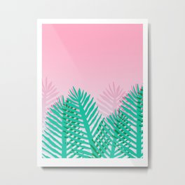 So Fine - palm springs desert plants indoor tropical oasis nature neon memphis throwback 1980s style Metal Print