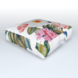 Loose Spring Bouquet Outdoor Floor Cushion