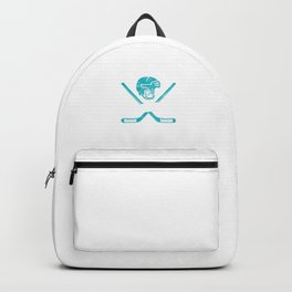 Eat Sleep Hockey Repeat Goalie Net Field Game Stick Shinny Gift Backpack