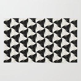 Trinity Pattern Black White Rug