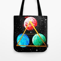 triforce Tote Bags featuring Triforce by AbstractAnomaly
