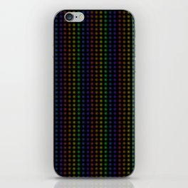 Rows of Rainbow Flowers iPhone Skin