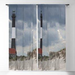 Fire Island Light From The Beach Blackout Curtain
