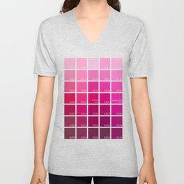 Shades of Pink Pantone Unisex V-Neck