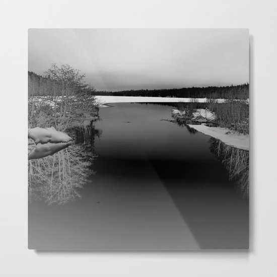 Then There is Cold... in Black and White Metal Print