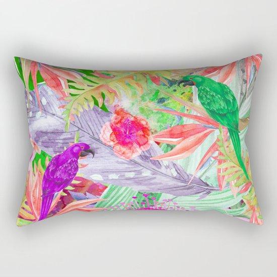 exotic parrots i Rectangular Pillow