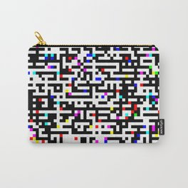 Abstract 8 Bit Pattern Carry-All Pouch