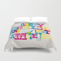 quote Duvet Covers featuring Quote by Roberlan Borges