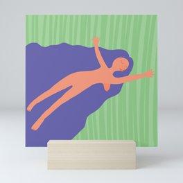 Purple Woman Mini Art Print