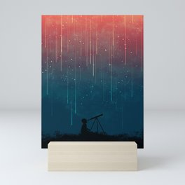 Meteor rain Mini Art Print