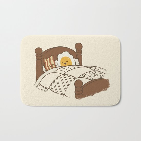 Breakfast In Bed  Bath Mat