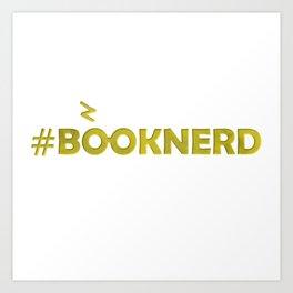 #BOOKNERD with scar Art Print