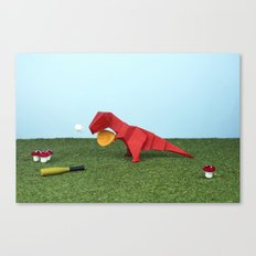 Yes T-Rex can! Canvas Print