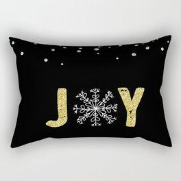 JOY w/White Snowflakes Rectangular Pillow