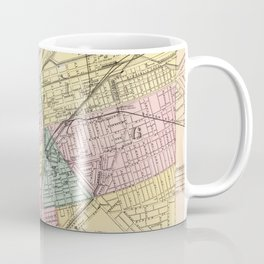 Vintage Map of Dayton Ohio (1872) Coffee Mug