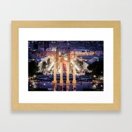 Four Columns Framed Art Print