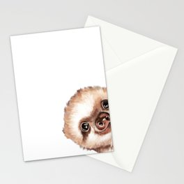 Sneaky Baby Sloth Stationery Cards