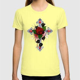 Cross with Red Rose T-shirt