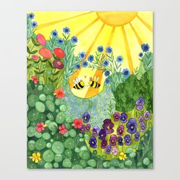 Bumblee Bee LOVE Canvas Print