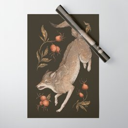 The Wolf and Rose Hips Wrapping Paper