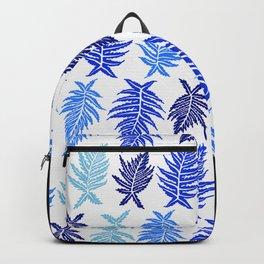 Inked Ferns – Blue Palette Backpack