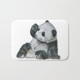 Exhausted Panta Bear Bath Mat