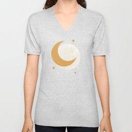 Moon Sparkle - Celestial Unisex V-Neck