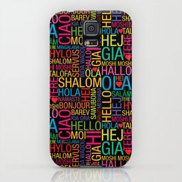 Hello World iPhone Case