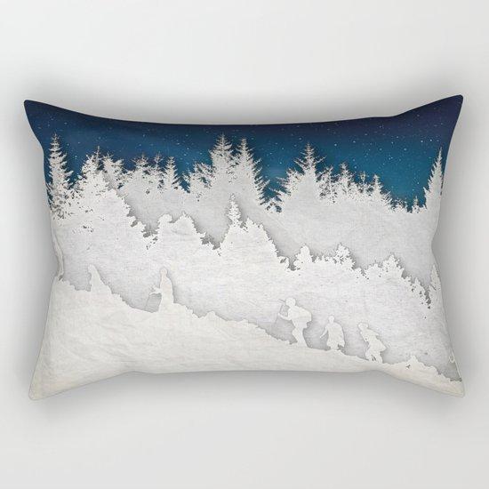 A Snowy Hike Rectangular Pillow