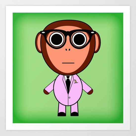 Cool monkey Art Print