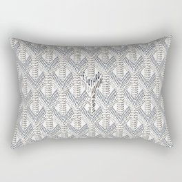 Goyard White Rectangular Pillow
