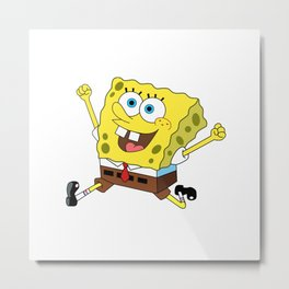Spongebob Jump Metal Print