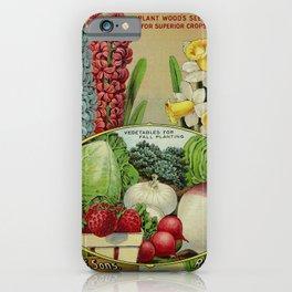 Seed Catalog Garden Floral Fruit Hyacinthus Strawberry Onion Tunrip Narcissus Vase iPhone Case