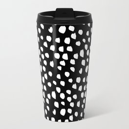 Handdrawn drops and dots on black-Mix & Match with Simplicty of life Metal Travel Mug