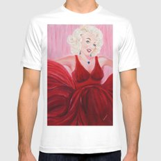 Dazzling Marilyne | Éblouissante Marilyne MEDIUM White Mens Fitted Tee