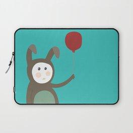 Bunny boy with a balloon Laptop Sleeve