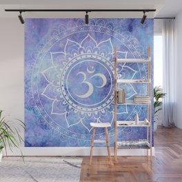 Om Mandala Lavender Periwinkle Blue Galaxy Space Wall Mural