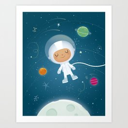 Little Astronaut Art Print