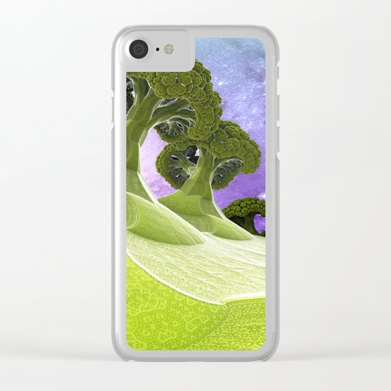 Broccoli Planet / / #fractal #fractals #3d Clear iPhone Case