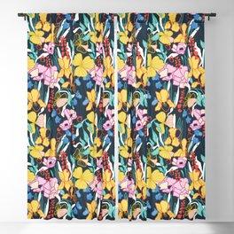 Tropical Flower Gardens Blackout Curtain