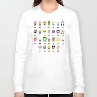lemongrab Long Sleeve T-shirts featuring Ad Venture Time Alphabet by PixelPower