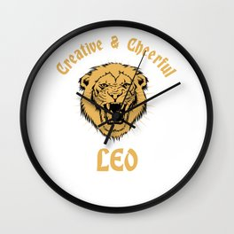 Zodiac Leo Birthday Girl July August Wall Clock