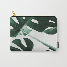 Monstera, Leaves, Plant, Green, Scandinavian, Minimal, Modern, Wall art Carry-All Pouch