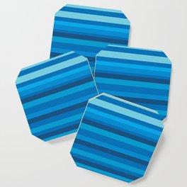 Blue stripes Coaster
